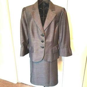 Nine West Gray Suit 14 Women's Three-Button Blazer